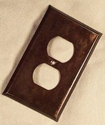 Custom Copper Patina Switch Plates