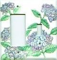 Hydrangea light switch plate covers
