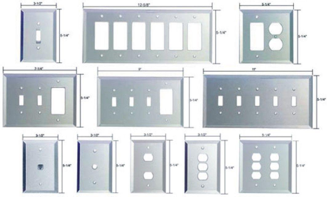 ... Mirrored Glass Switch Plates ...