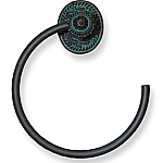 "#AP1865 Oak Towel Ring 6.5"" long, 7""W, 3"" projection"