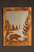 Bear Scene In Mirror