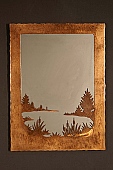 Lake Scene In Mirror