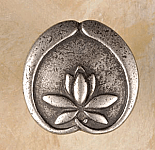 AP#2263 Asain Lotus Flower Knob Small