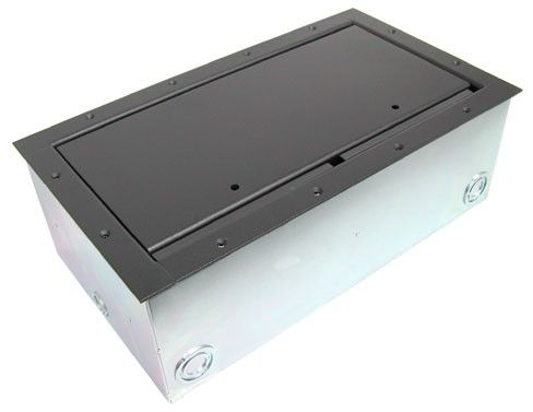 AV Super Wide Floor Box Data Floor Boxes AV Table Top Box - Av table box