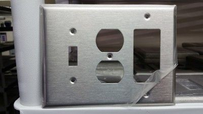 stainless steel switch plates unusual