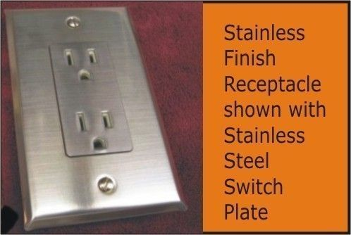 Stainless Steel Switchplates Stainless Steel Outlet