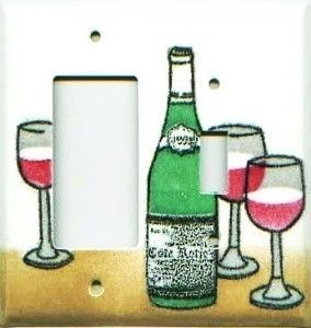 Wine Porcelain Enamel Switch Plates