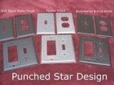 Punched Star Design Switch Plates