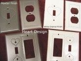 Punched Heart Design Switch Plates