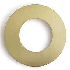 Goof Rings or Mistake Rings in Brass or Aluminum in two inside sizes for fixing a floor_Box_Cover bad cut in the floor