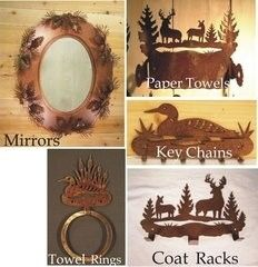 rustic home decor_mirrors-towel rings-etc