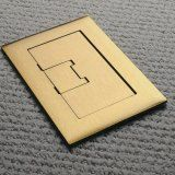 APC-E9763BR Floor Box Cover 3-gang rectangular in Brass