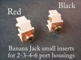 AP-40837 Banana Jacks.  Set of two in 6 colors for switch plate covers