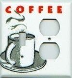 Coffee Design Porcelain Enamel Switchplates