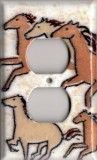 galloping horse switch plates