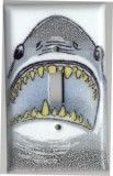 Shark Bite Porcelain Enameled switch plates shown here in a Single Switch