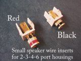 AP-40833 Set of Two Speaker wire inserts for 2-3-4-6 port housings for switch plates