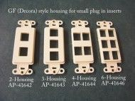 2-3-4-6 Port Housing inserts for GF (Decorator) style switchplates