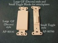 Large GF (Decorator) and toggle style blank inserts