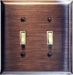 Brushed Copper Switchplates