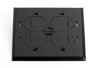 #7 Black floor box cover