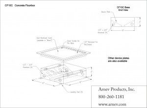 AP-CF10C floor box cut sheet