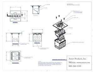 AP-RCFB-1 Floor Box cut sheet