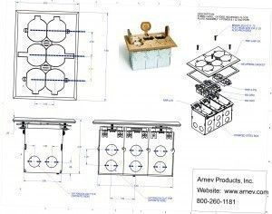 AP-SWB-6-LR cut sheet for all the floor box contractors and installers