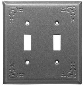 Adobe Gray Indian Design Switch Plates
