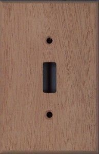 wall plate_switch cover_ african mahogany wood