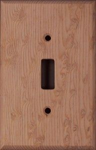 Birdseye Pine wood switchplates