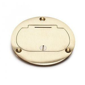 AP-DFB-1-GFI Floor Box Cover for GFCI receptacle in Brass or Aluminum