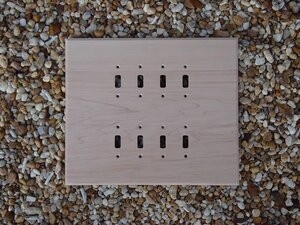 Sassafras wood switch plates