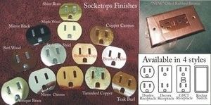 Pewter switchplates low voltage devices
