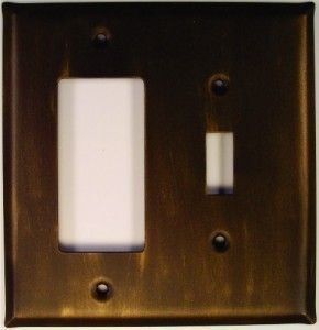 Custom Finished Wallplate shown in # 3 Bronze with a Gold Wash