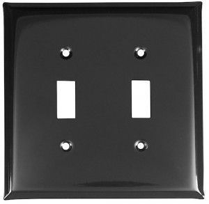 High Shine Black Switch Plates