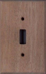 Honduran Mahogany wood switchplates