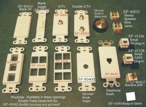 Low voltage housings for switch plate covers