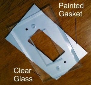 Our new paintable Switchgard gaskets for our clear glass switch plate covers