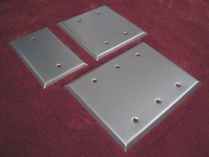 Pewter Blank Switchplates