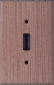 Redwood wood switch plates