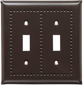 Bronze Border design switch plates