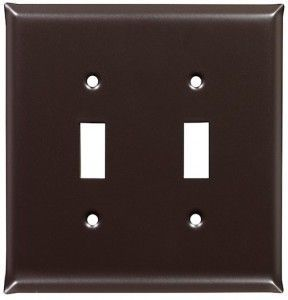 Bronze Plain Design Switch Plates