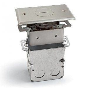 AP-SWB-1-NP Floor Box Single receptacle-nickel plated