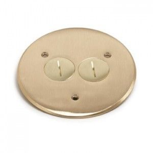 Round floor box  cover in brass