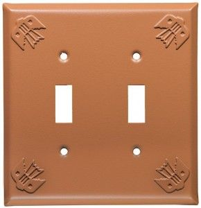 Terra Cotta Thunderbird Design Switch Plates