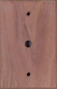 Walnut wood switch plates