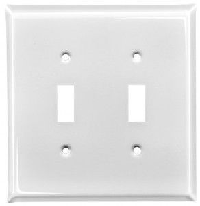 white enamel switch plates