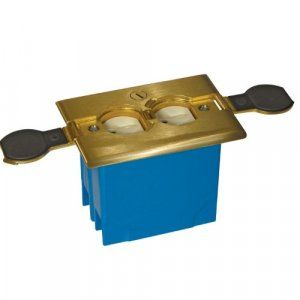 APC-B121BFBB Floor Box For Duplex in Brass