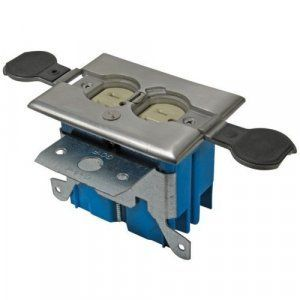 APC-B121BFSS Floor Box For Duplex in Stainless